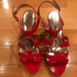 Alfani Red Strapped Heels size 7.5M